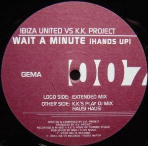 Cover - Ibiza United Vs. K.K. Project: Wait A Minute