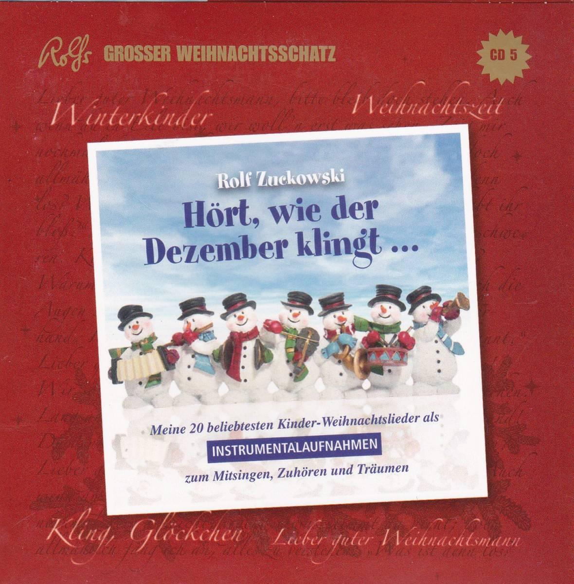 Danke Lieber Tannenbaum Text.Rolf Zuckowski Seine Freunde Rolfs Großer Weihnachtsschatz 5 Cd