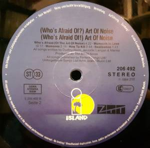 The Art Of Noise Whos Afraid Of The Art Of Noise Lp 1984