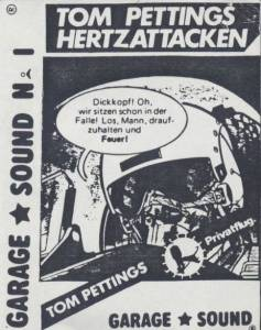 Cover - Tom Pettings Hertzattacken: Garage Sound No.1