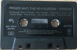 Prince And The Revolution: Parade (Tape) - Bild 5