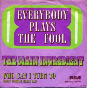 Cover - Main Ingredient, The: Everybody Plays The Fool