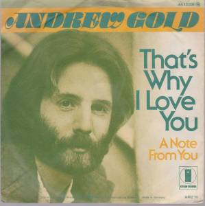 Cover - Andrew Gold: That's Why I Love You
