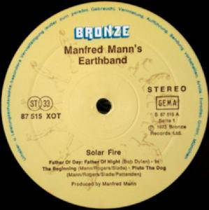 Manfred Mann's Earth Band: Solar Fire (LP) - Bild 3