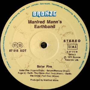 Manfred Mann's Earth Band: Solar Fire (LP) - Bild 4