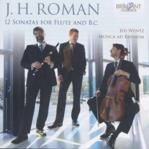 Cover - Johan Helmich Roman: 12 Sonatas For Flute And B.C.