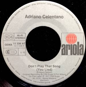 adriano celentano don 39 t play that song 7 1977. Black Bedroom Furniture Sets. Home Design Ideas