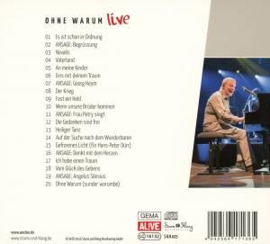 Konstantin Wecker: Ohne Warum - Live (CD) - Bild 2
