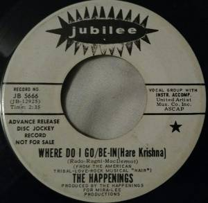 Cover - Happenings, The: Where Do I Go/Be-In [Hare Krishna]