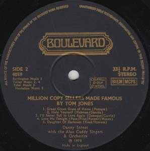 Danny Street - Alan Caddy Orchestra and Singers Million Copy Sellers Made Famous Engelbert Humperdinck
