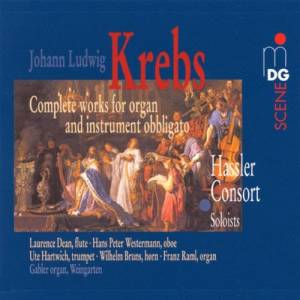 Cover - Johann Ludwig Krebs: Complete works for organ and instrument obbligato