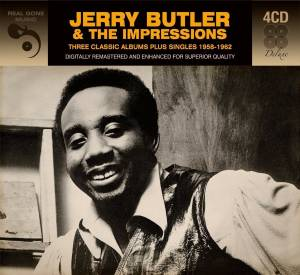 Cover - Jerry Butler & The Impressions: Three Classic Albums Plus Singles 1958-1962