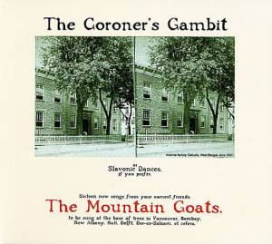 Cover - Mountain Goats, The: Coroner's Gambit, The