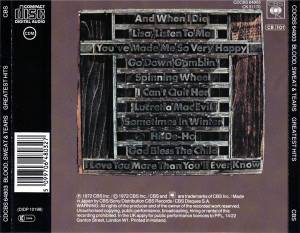 Blood, Sweat & Tears: Greatest Hits (CD) - Bild 2