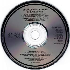 Blood, Sweat & Tears: Greatest Hits (CD) - Bild 3