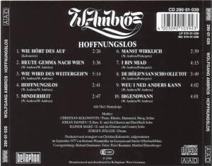 Wolfgang Ambros: Hoffnungslos (CD) - Bild 2
