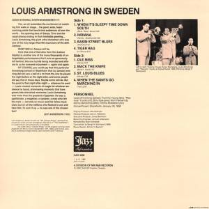 "Louis Armstrong: Louis Armstrong In Sweden (12"") - Bild 2"
