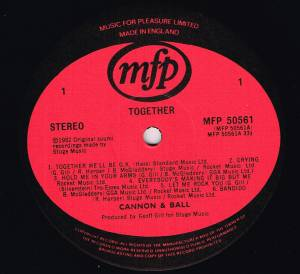 Cannon & Ball: Together (LP) - Bild 4