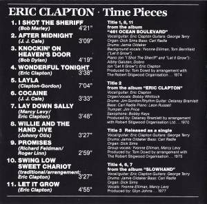 Eric Clapton / Derek And The Dominos: Time Pieces (Split-CD) - Bild 2