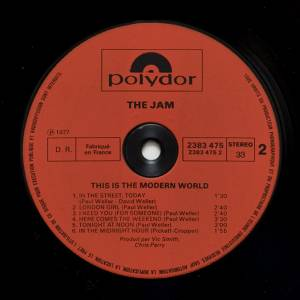 the jam this is the modern world lp 1977