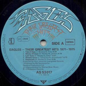 Eagles: Their Greatest Hits 1971-1975 (LP) - Bild 3