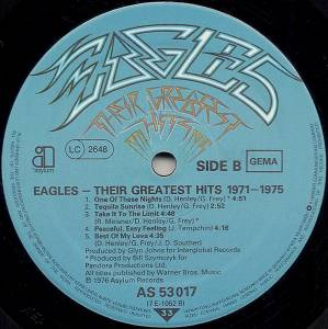 Eagles: Their Greatest Hits 1971-1975 (LP) - Bild 4