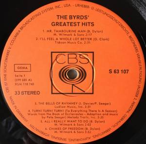 The Byrds: Greatest Hits (LP) - Bild 3