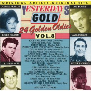 Cover - Johnnie & The Hurricans: Yesterdays Gold Vol. 8 - 24 Golden Oldies