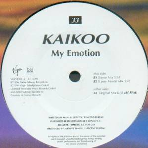 Cover - Kaikoo: My Emotion