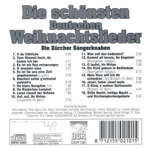 Die Schönsten Deutsche Weihnachtslieder.Zürcher Sängerknaben Die Schönsten Deutschen Weihnachtslieder Cd