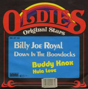 Cover - Billy Joe Royal: Down In The Boondocks / Hula Love
