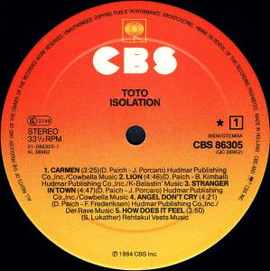Toto: Isolation (LP) - Bild 3