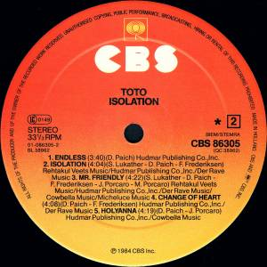 Toto: Isolation (LP) - Bild 4
