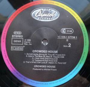 Crowded House: Crowded House (LP) - Bild 4