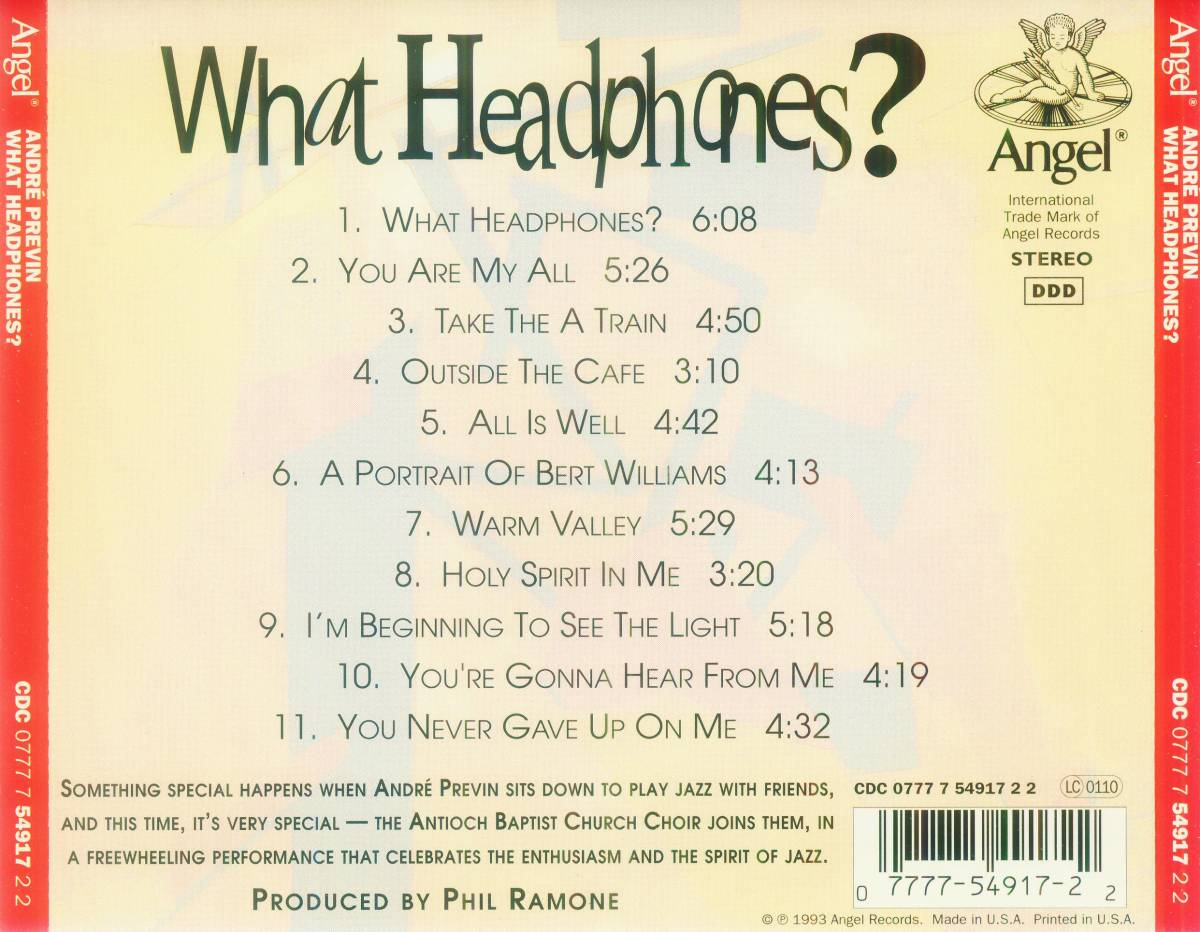 André Previn: What Headphones? - CD (1993)