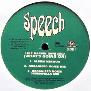 Cover - Speech: Like Marvin Gaye Said (What's Going On)