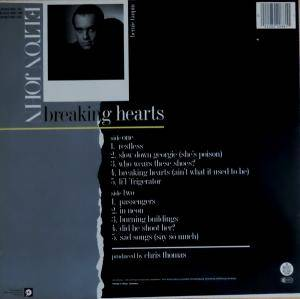 Elton John: Breaking Hearts (LP) - Bild 2