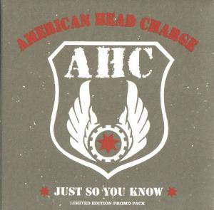 Cover - American Head Charge: Just So You Know