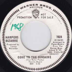 Cover - Harpers Bizarre: Come To The Sunshine / The Debutante's Ball