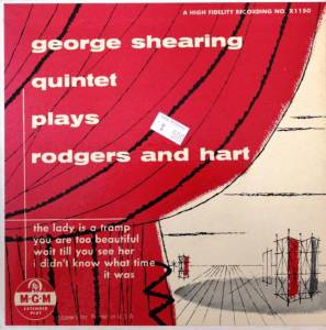 Cover - George Shearing Quintet: Plays Rodgers And Hart