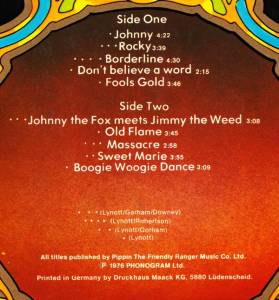 Thin Lizzy: Johnny The Fox (LP) - Bild 3