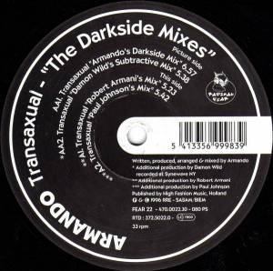 "Cover - Armando: Transaxual - ""The Darkside Mixes"""