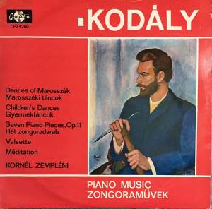 Cover - Zoltán Kodály: Piano Music
