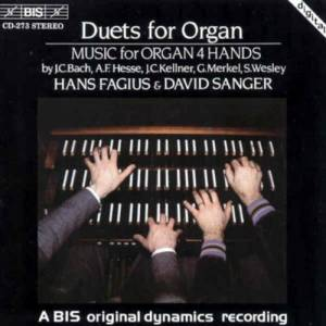Cover - Johann Christoph Kellner: Hans Fagius & David Sanger: Duets For Organ