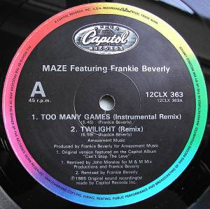 Cover - Maze Feat. Frankie Beverly: Too Many Games