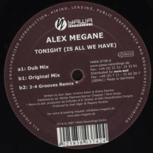 Cover - Alex Megane: Tonight (Is All We Have)