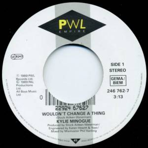 "Kylie Minogue: Wouldn't Change A Thing (7"") - Bild 3"