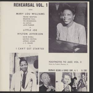 Cover - Mary Lou Williams: Rehearsal Vol. 1 (Footnotes To Jazz Vol. 3)
