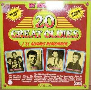 "Cover - Dave ""Baby"" Cortez: 20 Great Oldies - I'll Always Remember Vol.18"