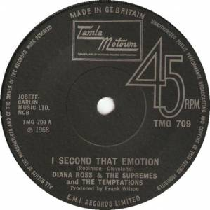 Cover - Diana Ross, The Supremes, The Temptations: I Second That Emotion